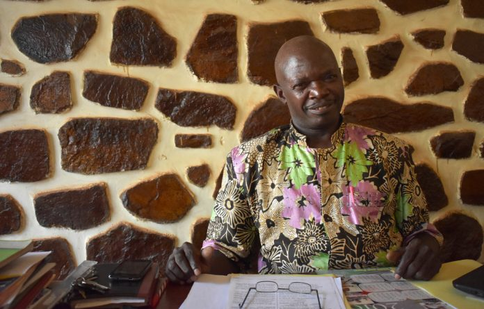 Heritage house: Central African Republic national museum director Abel Kotton faces a tough task to rehabilitate the ramshackle building that is home to thousands of historical artefacts.