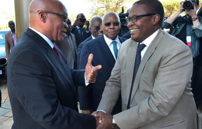 In happier days: jacob Zuma and Brian Molefe.