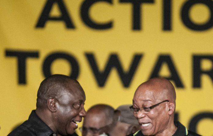 Who is laughing now? Cyril Ramaphosa and Jacob Zuma.