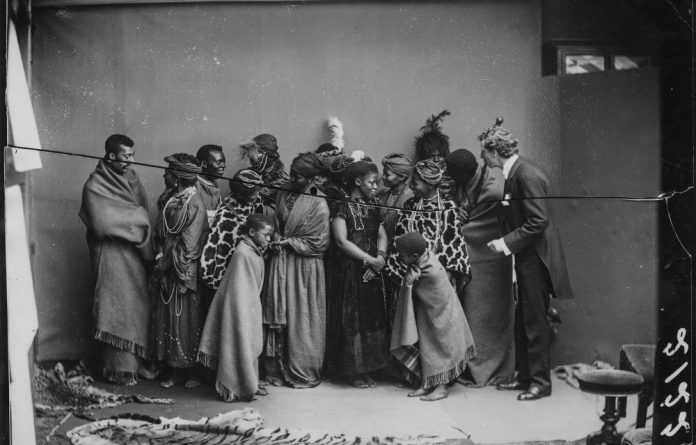 The 126-year-old pictures are a record of the tour to Europe by the African Choir. Members of the African Choir