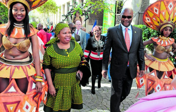 Deputy Minister of Arts and Culture Maggie Sotyu and Minister of Arts and Culture Nathi Mathethwa at the Budget Vote in Parliament