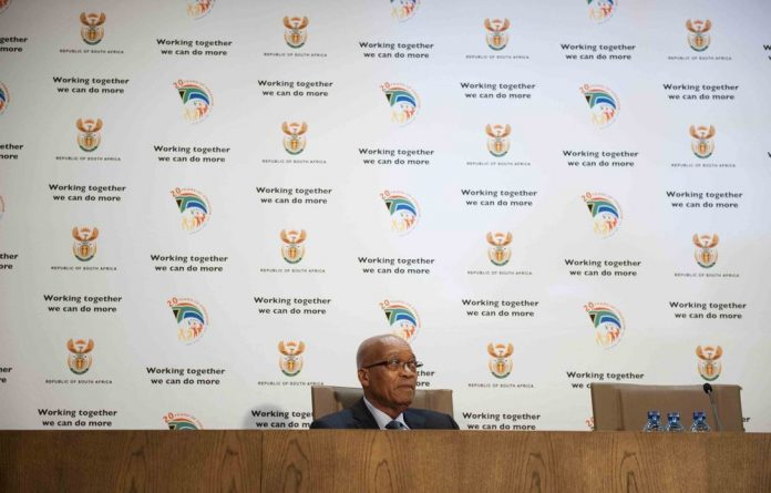 President Jacob Zuma announcing his new Cabinet.