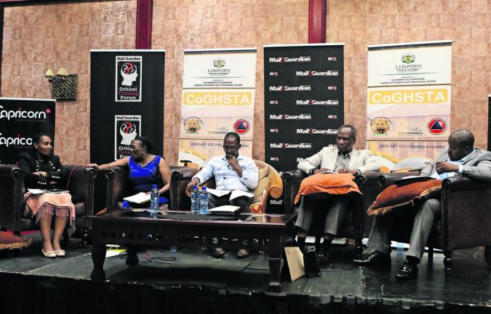 The panelists during the Critical Thinking Forum on the CoGHSTA budget held in Polokwane in March.