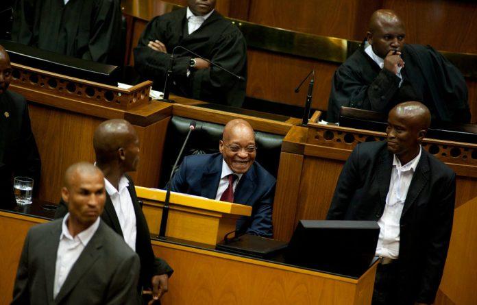 Jacob Zuma in Parliament.
