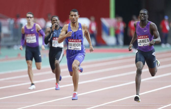 Wayde van Niekerk at the Diamond League meeting in France