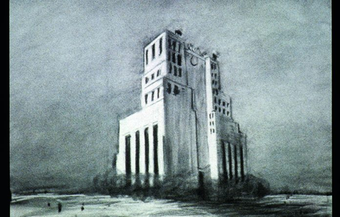 A still from William Kentridge's video work