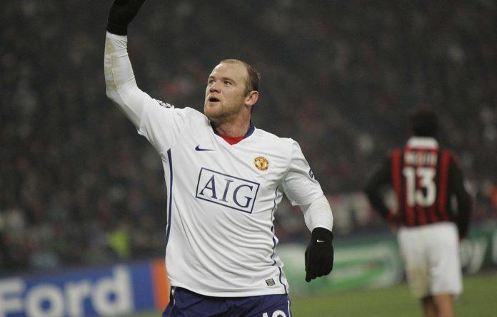 Man United striker Wayne Rooney.