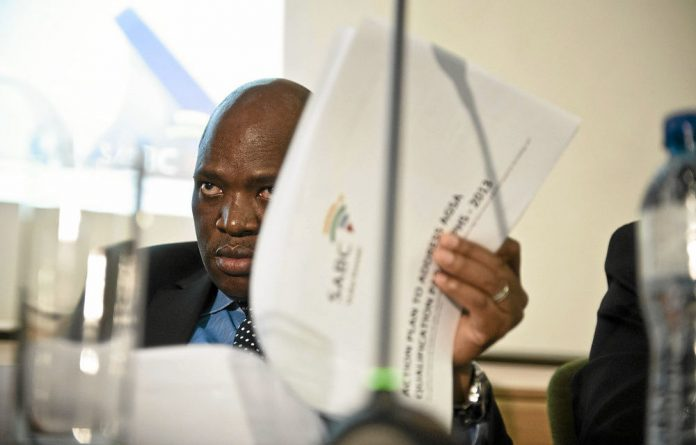 Sunny outlook: Hlaudi Motsoeneng says he has a great deal of support for his plan to put a positive spin on the news.