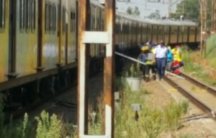 Commuters using trains running between Germiston and Johannesburg were told to expect delays of up to 60 minutes.