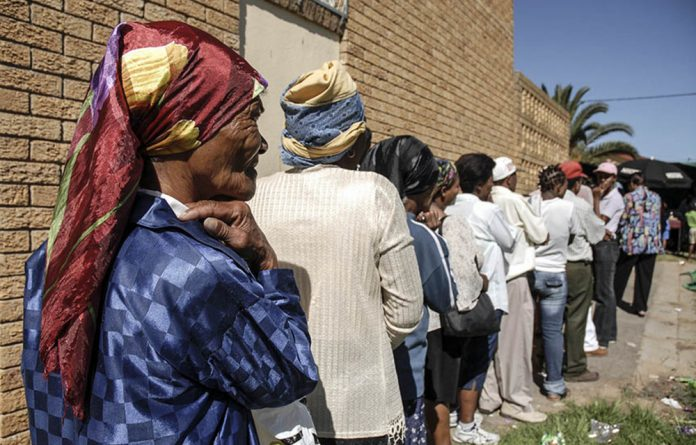 Lifeline: A huge number of South Africans are dependent in some way on the 17-million people who receive a ­social grant.