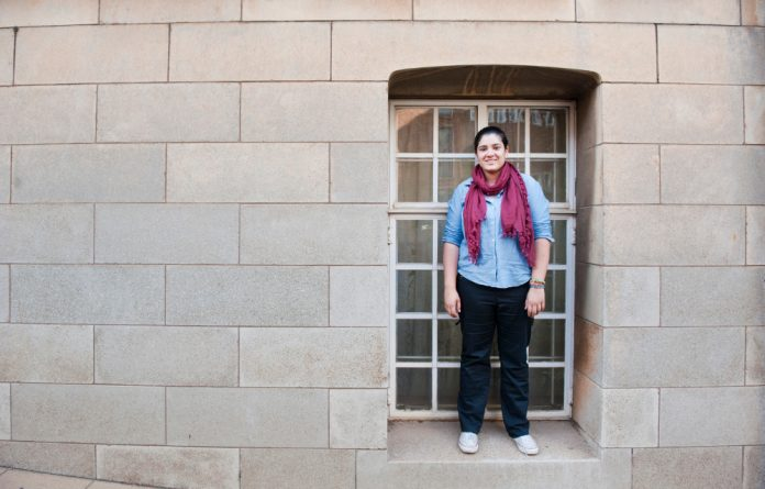 Political science master's student Tasneem Essop prefers trying to change society for the better from outside the conventional gender-based political structures.