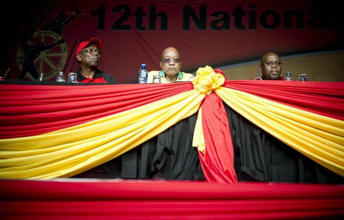 Trade union federation president Sdumo Dlamini