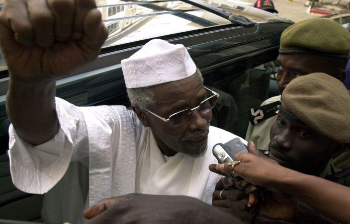 Former Chadian dictator Hissene Habre.