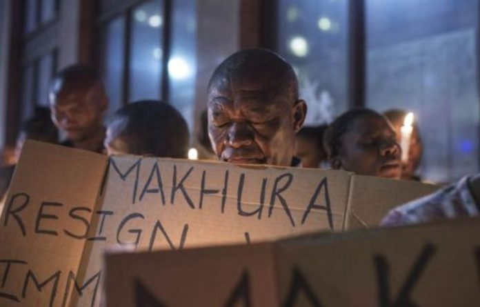 Familieshold a vigil for Life Esidimeni patients. They may have warmed to Gauteng Premier David Makhura during the arbitration and meetings ahead of the proceedings