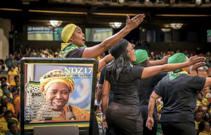 Members of the KwaZulu-Natal ANC Women's League  perform in support of Nkosazana Dlamini-Zuma as the party gears up for the ANC's next national elective conference.