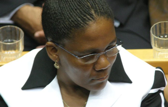 Dipuo Peters has 'categorically denied' that she was trying to stop the investigation.