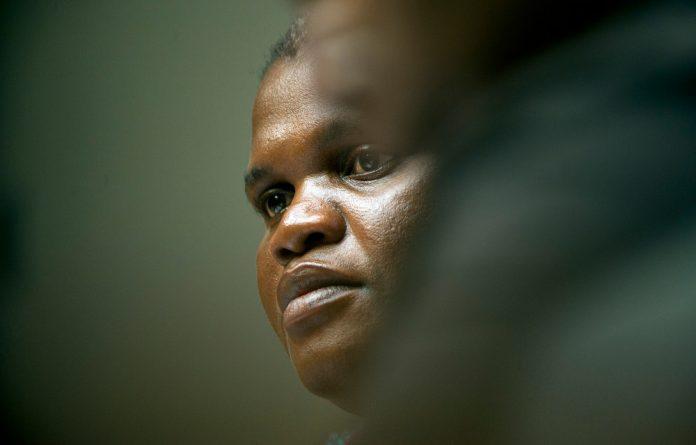 ?Communications Minister Faith Muthambi