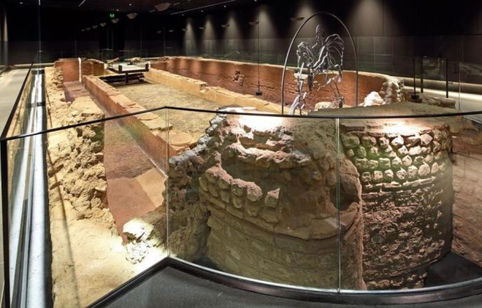 The ruins of London Mithraeum have been moved back and restored