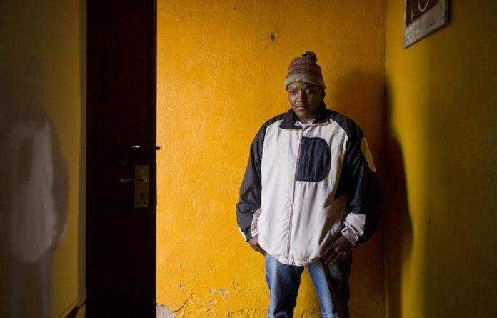 Finding peace: Tebogo Poopedi lost his vision at the age of 14 but he hasn't let that stop him from succeeding in the hip-hop world