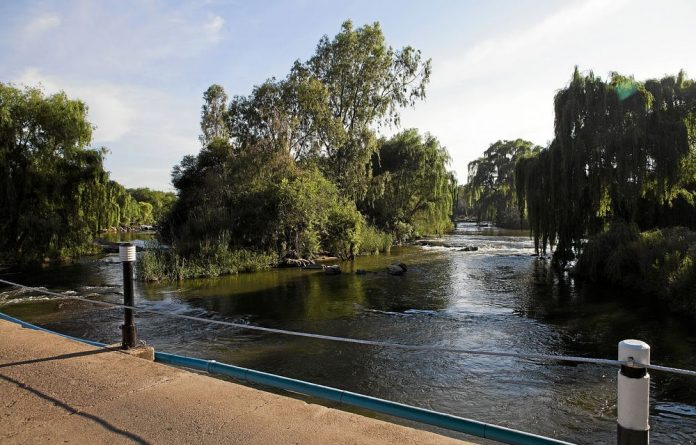 Making a splash: The Vaal River provides a wet