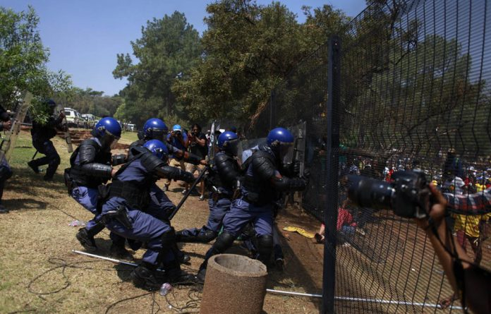 Student protests at university fees.