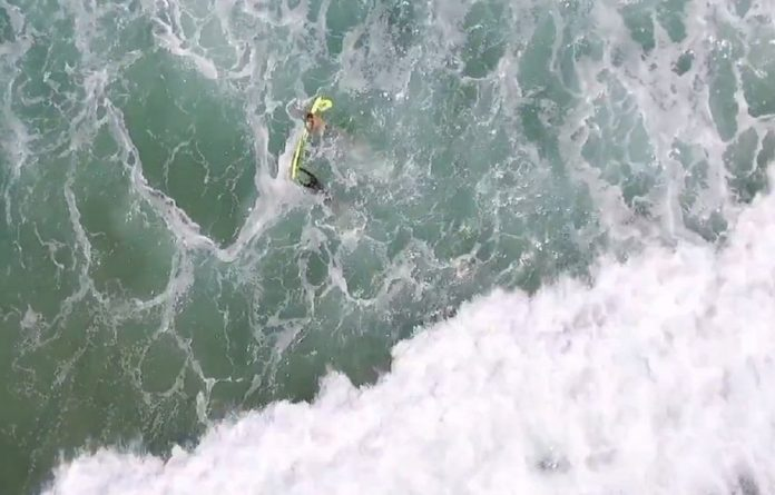 Lifesavers used a drone to rescue two people in danger of drowning