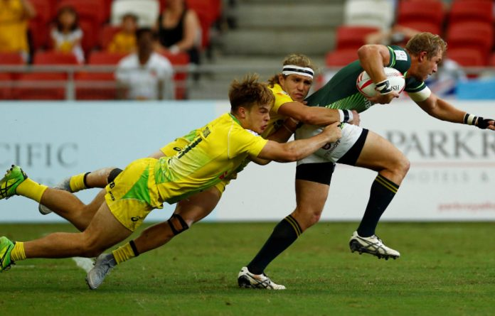 Unstoppable: Philip Snyman during the World Rugby Sevens Series this year.
