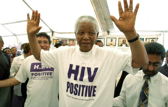 A file photograph of Nelson Mandela in 2002.