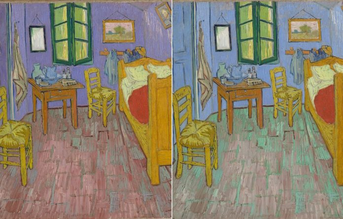 Van Gogh produced three almost identical paintings of his bedroom.