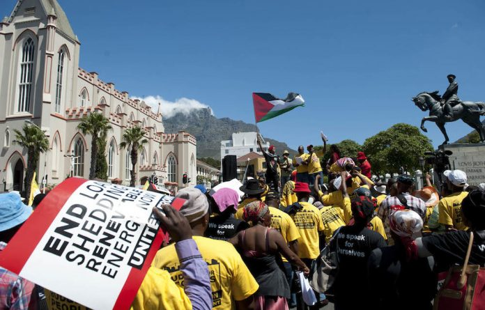 Marching on: The United Front says it is making significant strides in mobilising its supporters throughout South Africa.