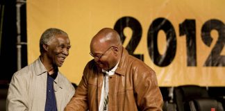 Thabo Mbeki and Jacob Zuma.