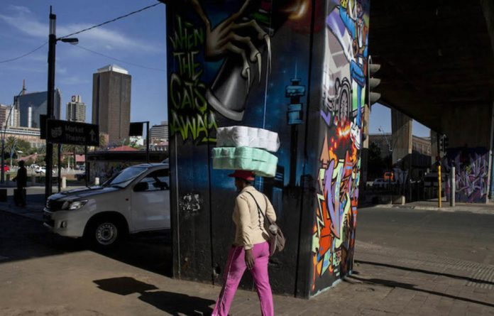 A glimpse of the Graffiti Gallery in Newtown. Photo: Oupa Nkosi