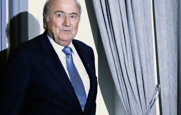 Storm clouds loom: Fifa boss Sepp Blatter faces an uncertain future following the arrest of his key officials in Zurich this week.