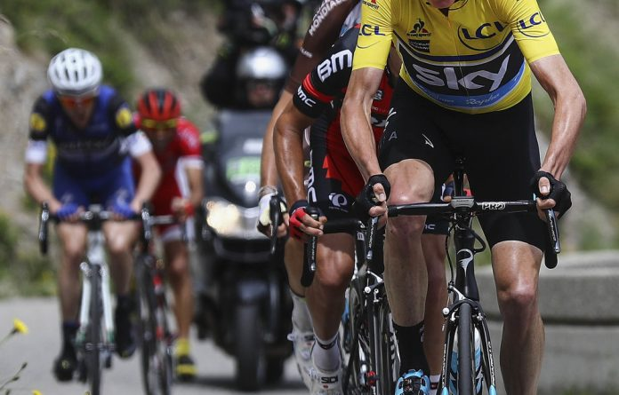 "Staying focused: Chris Froome says the support he has received from the peloton ""has just been incredible""."