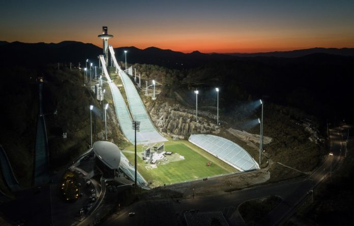 Game on: Organisers of the 2018 Winter Olympics in South Korea are upbeat despite tensions elsewhere