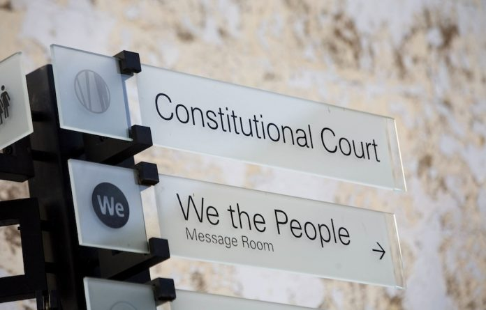 Role of honour: The Constitutional Court.