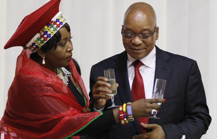 A photo of Bongi Ngema and Jacob Zuma in 2013.