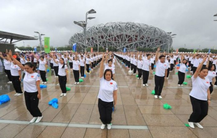 People who will work at the Winter Olympics in China get fit and snow-ready.