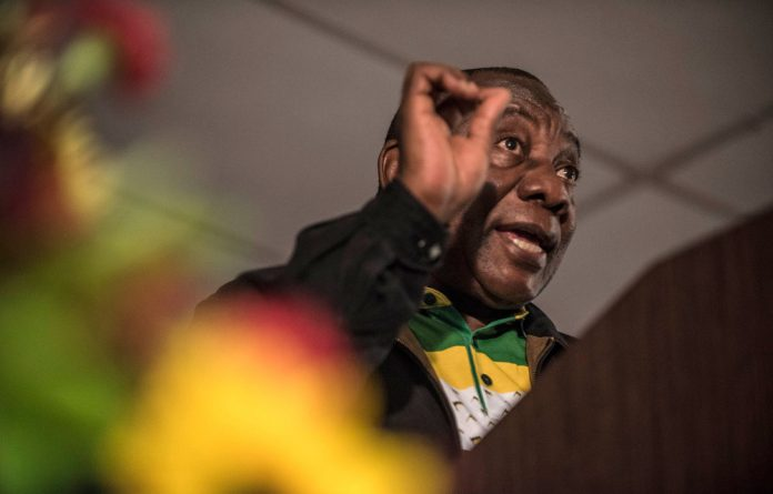 ANC deputy president Cyril Ramaphosa at Cosatu's central committee meeting in Centurian.
