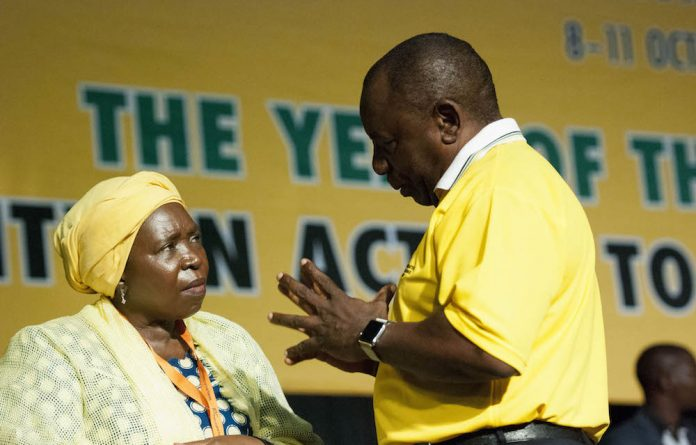 Contested: Deputy President Cyril Ramaphosa and Nkosazana Dlamini-Zuma are competing for the post of ANC president.