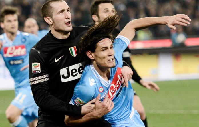 Napoli's forward Edinson Cavani