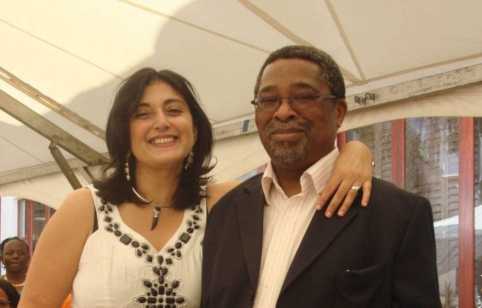 Happier times: Moeletsi Mbeki and Shehnilla Mohammed have been friends for 30 years.