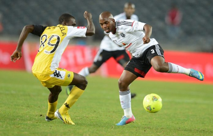 Rodney Ramagalela during the Absa Premiership match between Orlando Pirates and Black Leopards at Orlando Stadium.