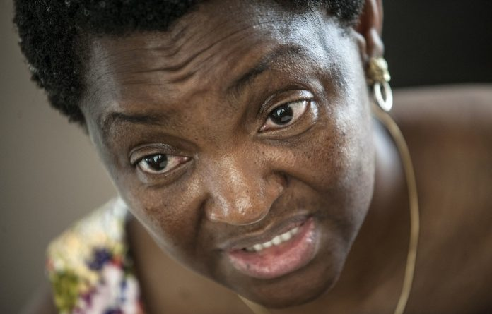 Defiant: Minister Bathabile Dlamini snubbed Parliament and didn't answer questions about the social grants debacle.