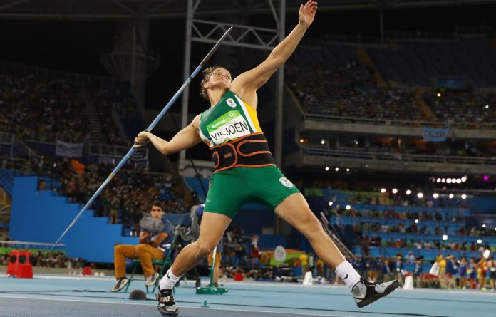 Sunette Viljoen won the silver medal in the women's javelin.