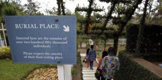 Rwanda's Genocide Memorial burial site.
