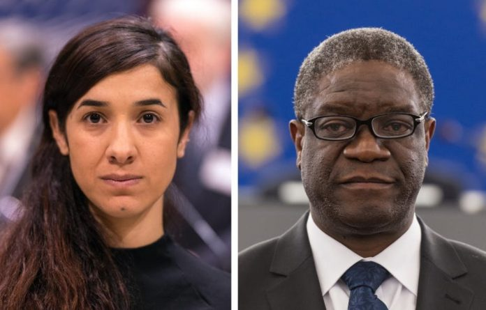 Nadia Murad and Denis Mukwege: campaigners against sexual violence against women.