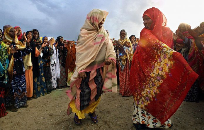 Celebrating independence: Women dance after casting their ballots in Hargeisa