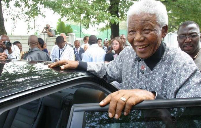 A file photograph of former president Nelson Mandela in 2006.