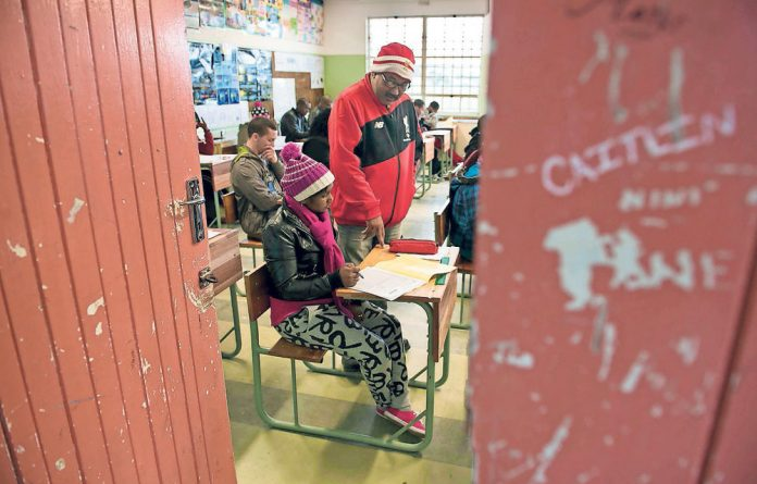Last batch: Sammy Williams is the manager of the Steenberg Adult Learning Centre in the Western Cape that is closing down because funding for teacher salaries has not been handed over.